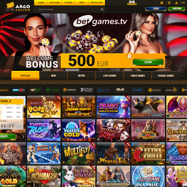 Argo Casino Review & Bonuses