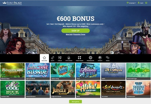 $600 welcome bonus and free spins on deposit