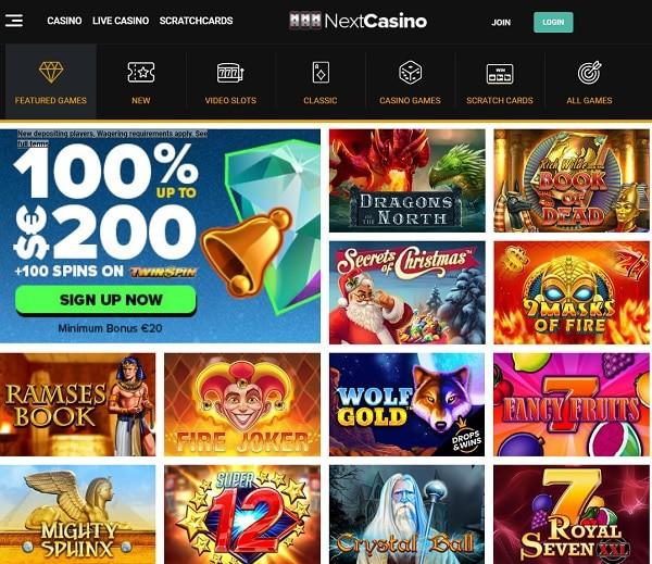 Next Casino Review & Bonuses