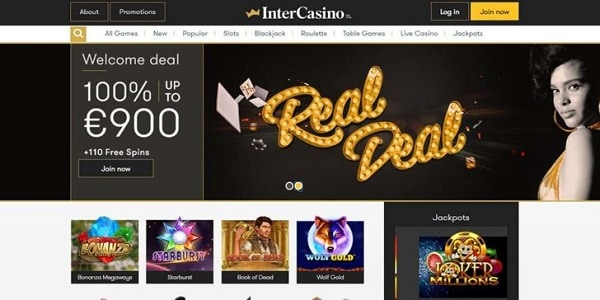 Inter Casino welcome bonus for new players