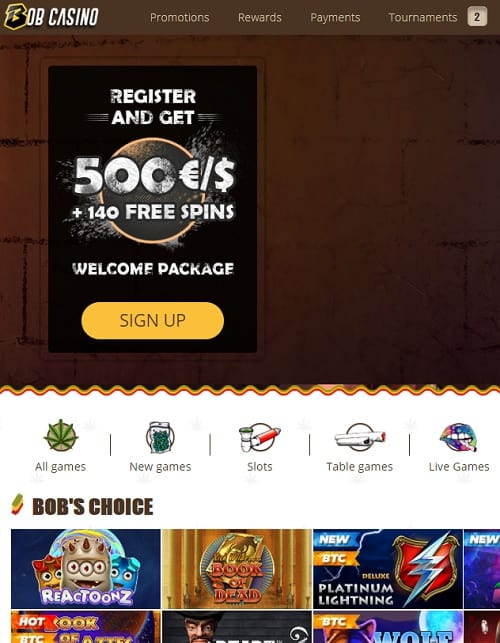 Bob Casino Online Free Spins Bonus