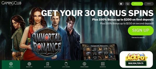 30 Free Spins + 100% bonus + $350 Free Money
