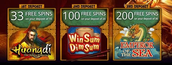 333 free spins gratis on 1st deposit