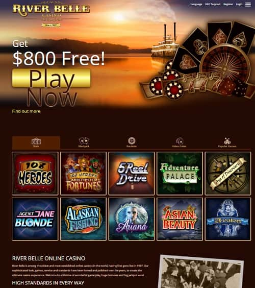 River Belle Casino free spins bonus review