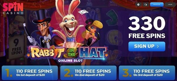 330 Free Spins Bonus