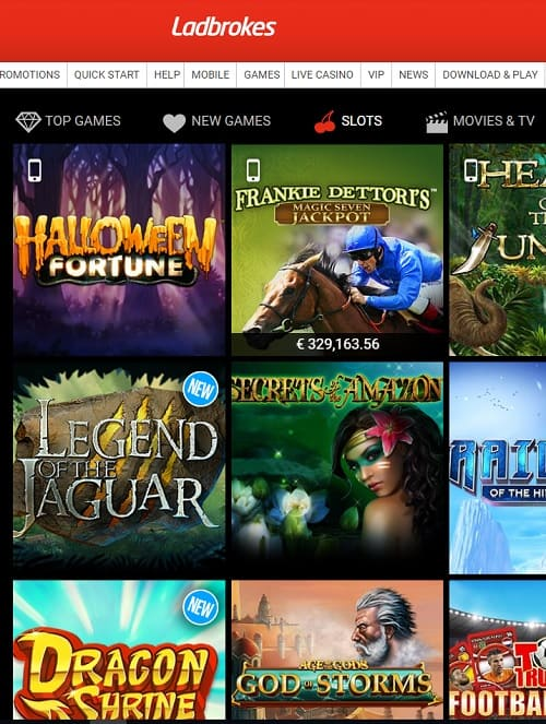 Ladbrokes Casino Review 100% up to €500 exclusive bonus + free spins