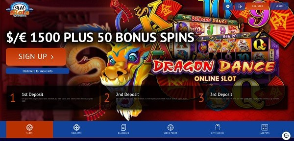 50 free spins on registration (no deposit needed)