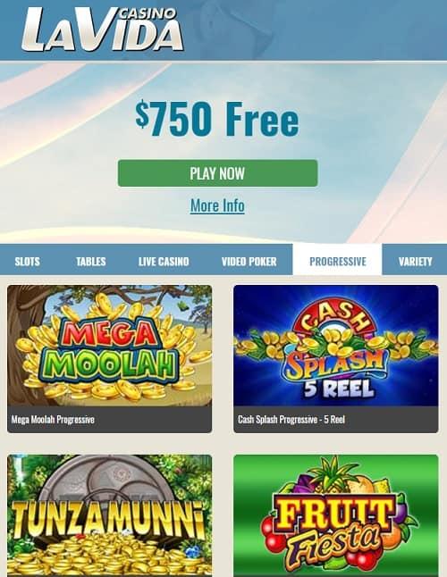 Casino La Vida Review 50 free spins + 200% up to €750 free bonus