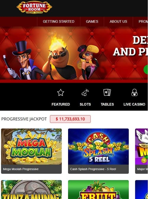 Fortune Room Casino Review: 50 free spins & 100% up to $150 free bonus