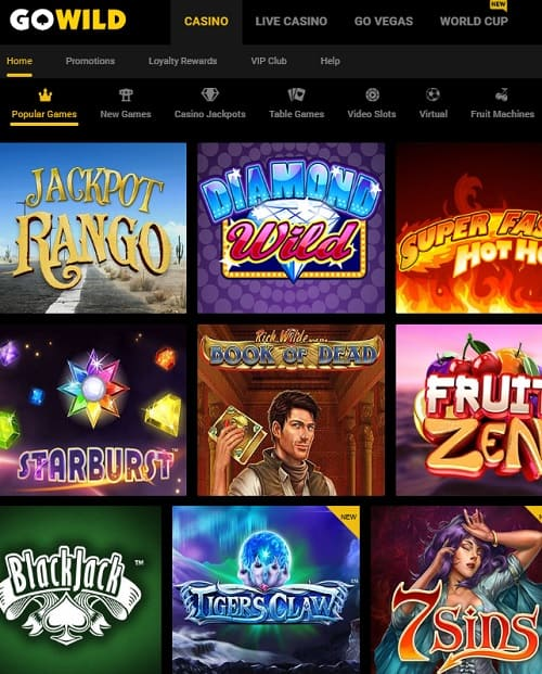 GoWild Casino Review 50 free spins and 250% up to $/€1033 free bonus