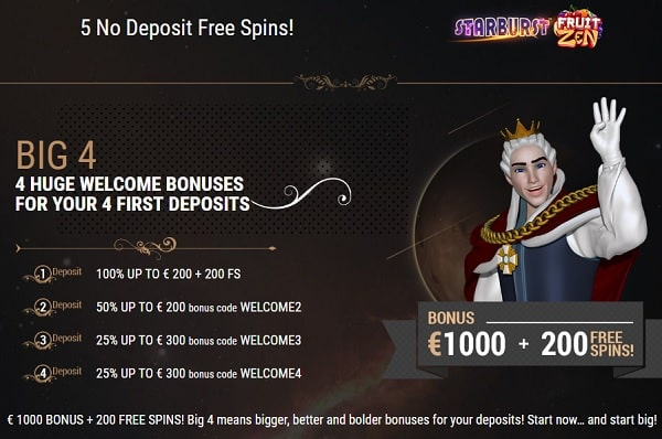 King Billy Casino Review: 5 free spins NDB + €1000 bonus + 200 free spins