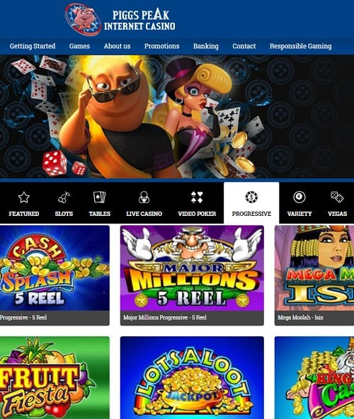 Piggs Peak Casino Review: 50 free spins and 150% up to $300 bonus