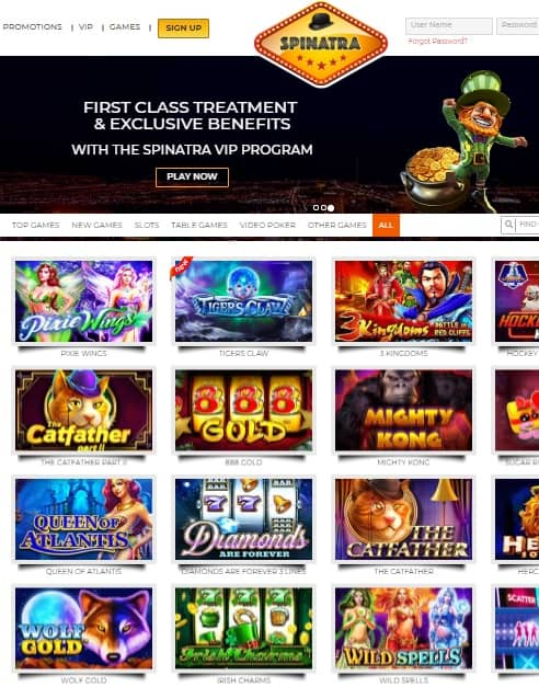 Spinatra Casino Review: 110 free spins & €999 free money - bonus codes