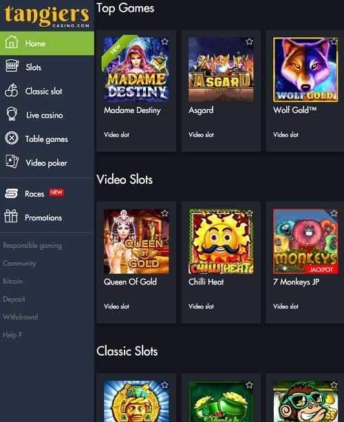 Tangiers Casino Review 25 free spins NDB + 675% up to $2500 bonus