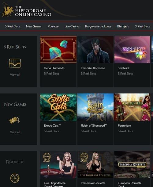 Hippodrome Casino Review: £1,000 bonus + 100 free spins | UKGC