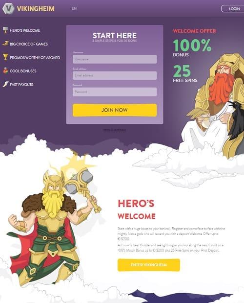 VikingHeim CasinoReview - 50 free spins & 100% up to €/$150 bonus