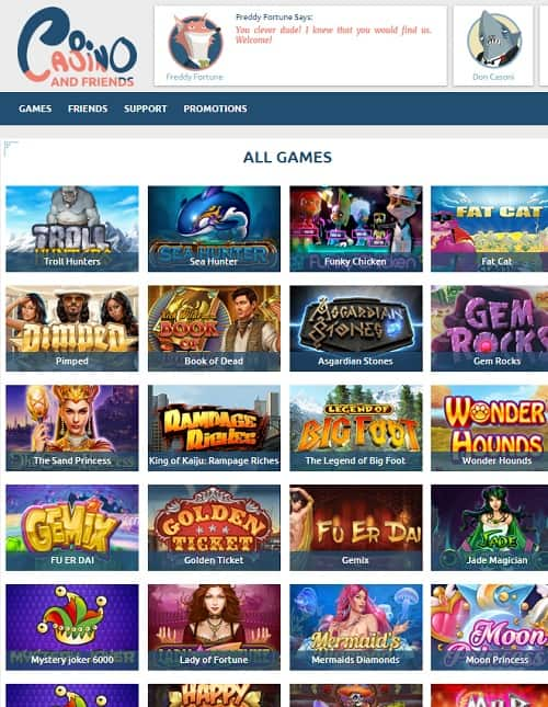 Casino And Friends Review   10 free spins NDB + 100% welcome bonus