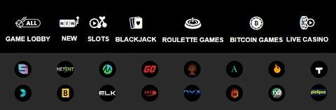 Playamo Casino slot machines, table games, jackpots, live dealer, bitcoin games