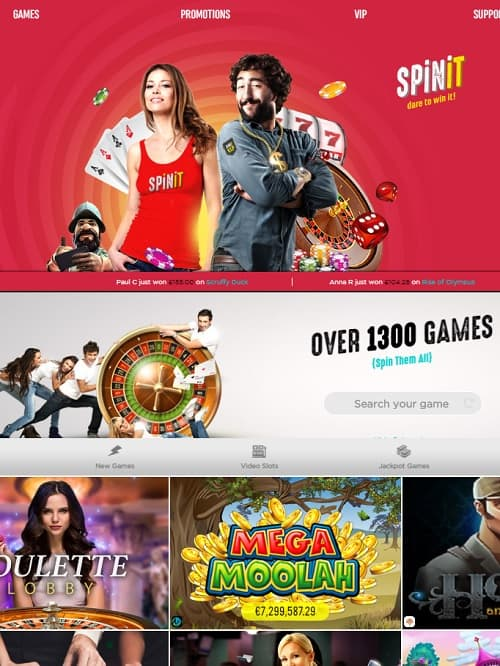 Spinit Casino Review   €/$ 1000 gratis and 200 free spins in bonuses