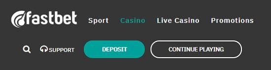 FastBet Casino no account