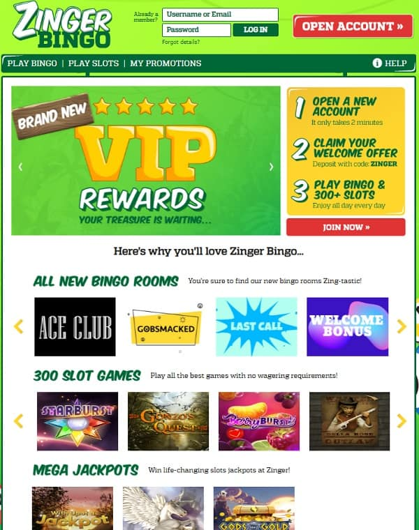Zinger Bingo Casino Review: 10 free spins and £70 bonus (no wagering)