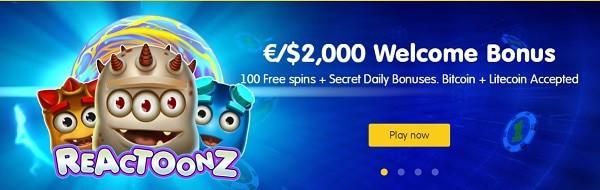 $2000 free bonus and 100 gratis spins on registration to 24kCasino.com