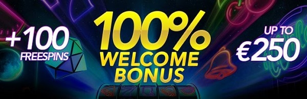 100% up to 250 EUR + 100 free spins
