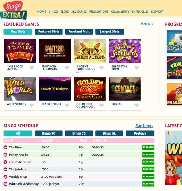 Bingo Extra Casino Review