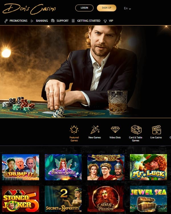 Dons Casino Review: 250% up to €800 free spins welcome bonus