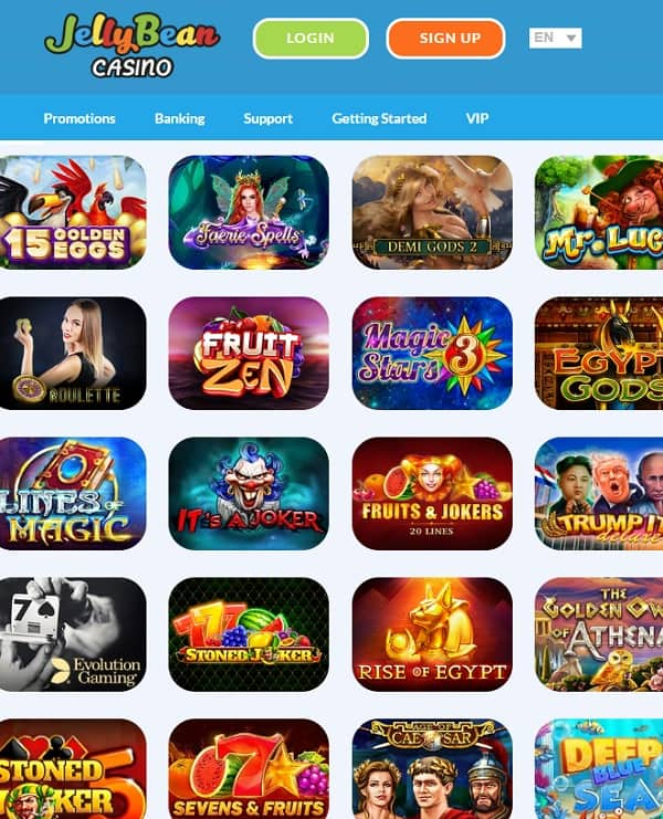Jelly Bean Casino Review 50 free spins and 200% up to €1000 bonus