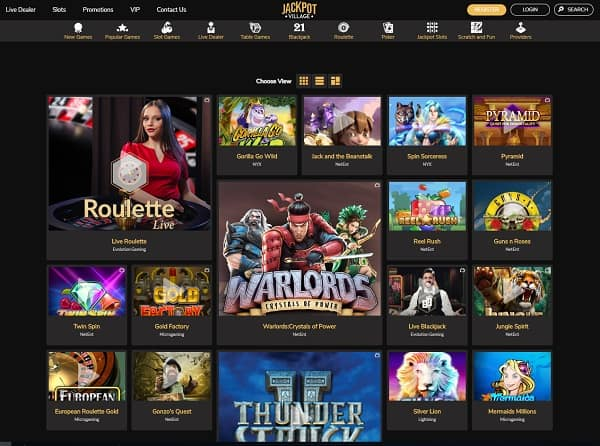 Jackpot Village Casino Review & Rating: 9,5/10
