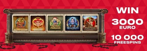 FAVBET Casino free spins netent games