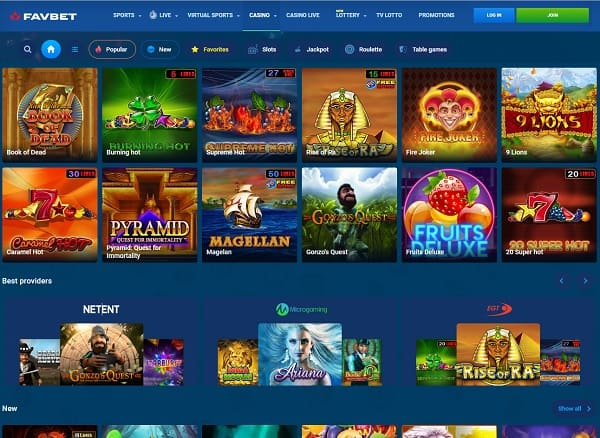 FavBet Casino Review   €10 free bet and free spins bonuses   Review