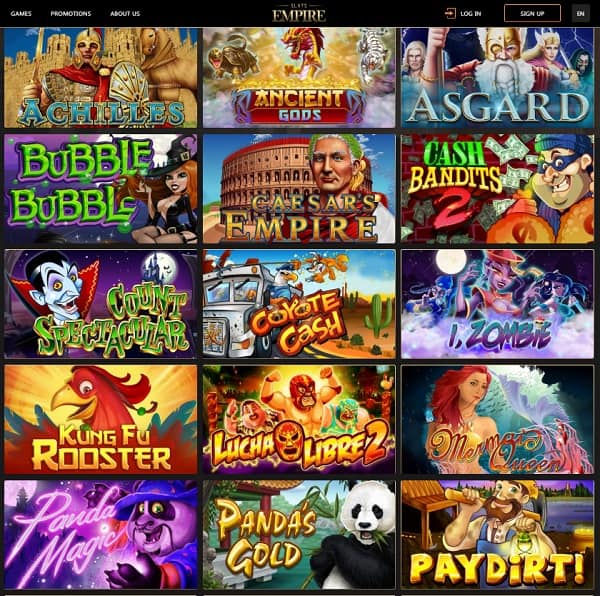 Slots Empire Casino Review $25 free spins and 220% welcome bonus