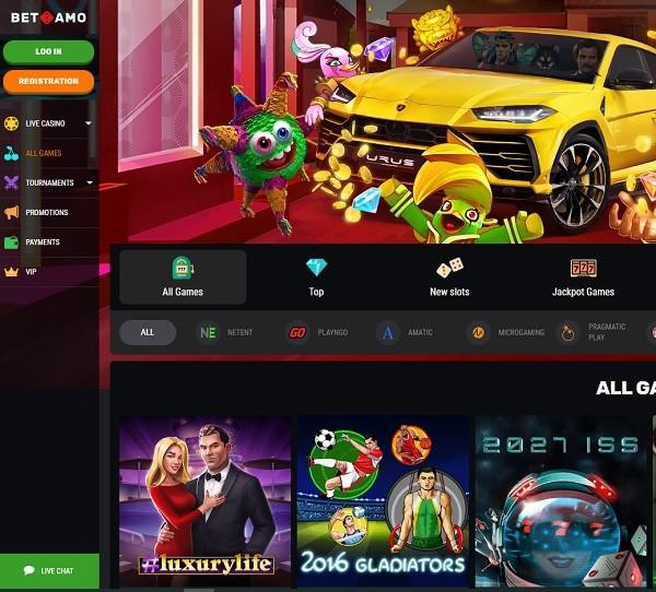 Betamo Casino Review 200% up to 300€ bonus and 150 free spins