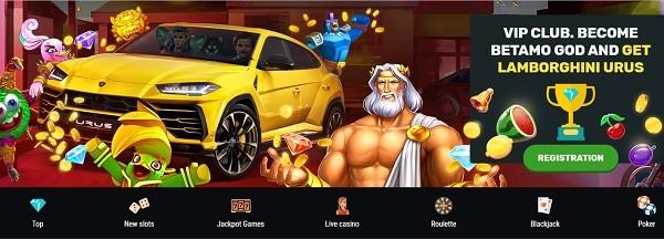 Betamo Casino Bonuses