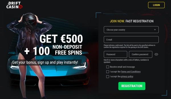 100 free spins on registration