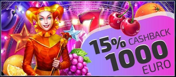 15% cashback promo