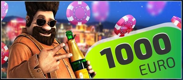 1,000 EUR welcome bonus after deposit