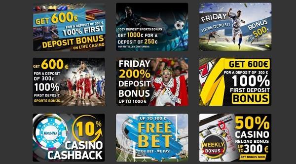 Bet2U Casino Bonuses