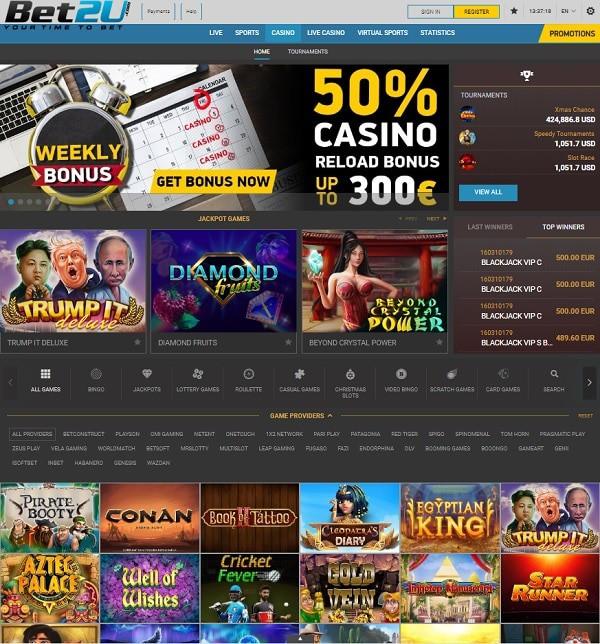 Bet2U Casino Free Spins