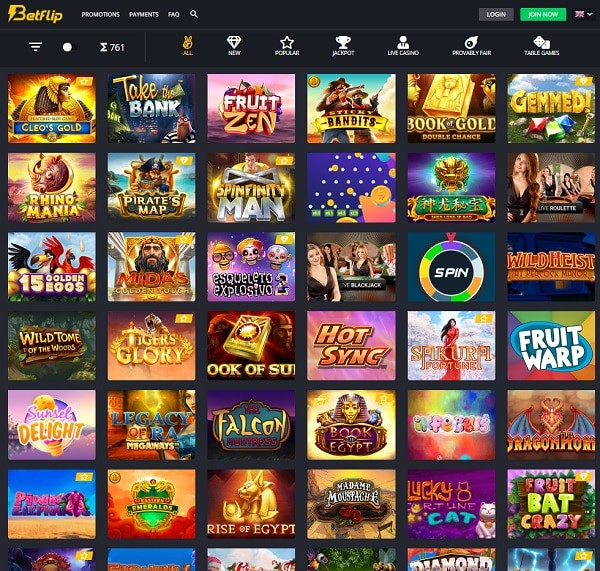Betflip Online Casino exclusive bonus