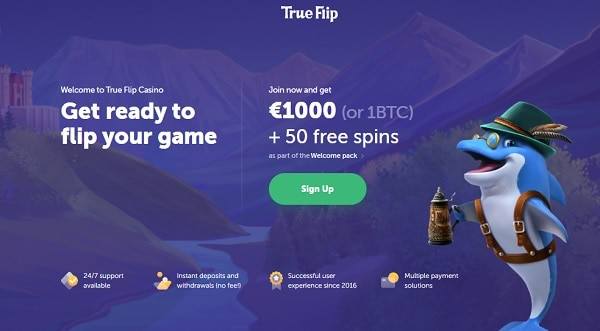 True Flip Casino Welcome Bonus