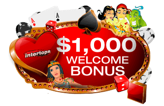 $1000 welcome bonus on 1st deposit (min $10)