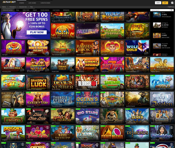 Mr Favorit free games and no deposit bonuses