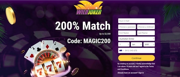 200% bonus and 50 free spins