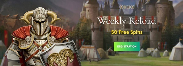 50 Free Spins every week