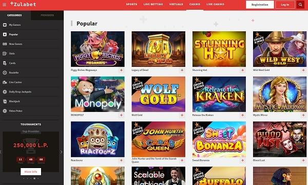 Zulabet Casino Website Review
