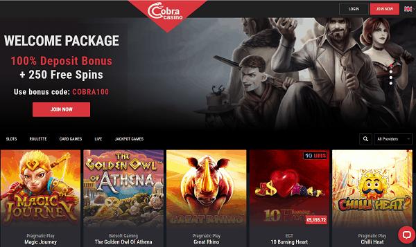 Cobra Casino Review, Rating, No Deposit Bonus, Free Spins, Promo Codes