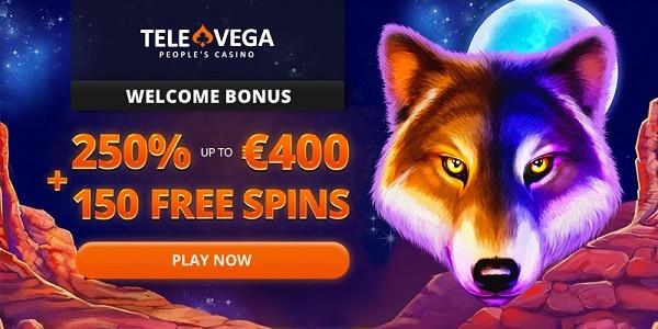 25 free spins no deposit + 100 gratis spins + 250% up to 400 EUR free bonus